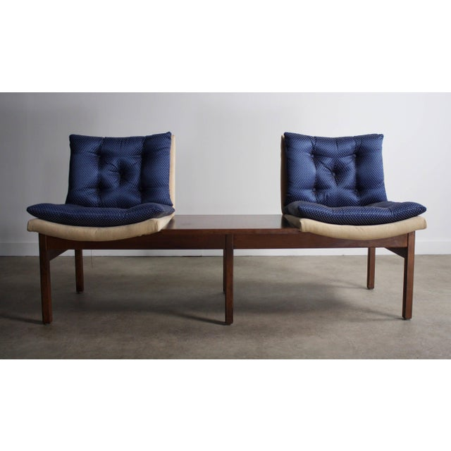 About this Mid Century Danish Modular Bench Chair in Walnut This is such a cool piece. Modular and easy to move aspects...