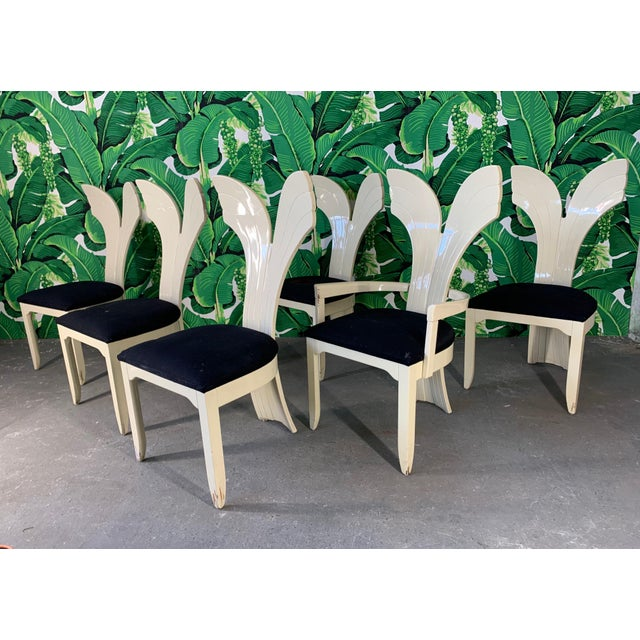 Sculptural Fish Tail Back Dining Chairs in the Manner of Ello - Set of Six For Sale - Image 11 of 11