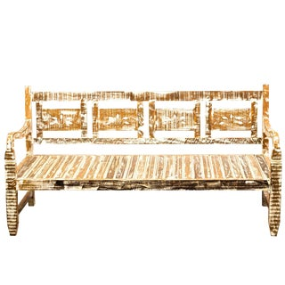 Reclaimed Wood French Provincial Bench