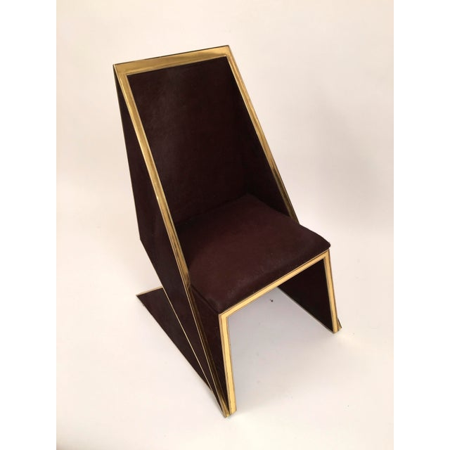 Two Toned Hide Dinning Chair by MarGian Studio For Sale In New York - Image 6 of 11