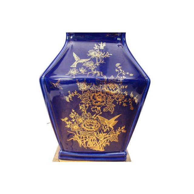 Cobalt Blue Ceramic Table Lamp - Image 3 of 4