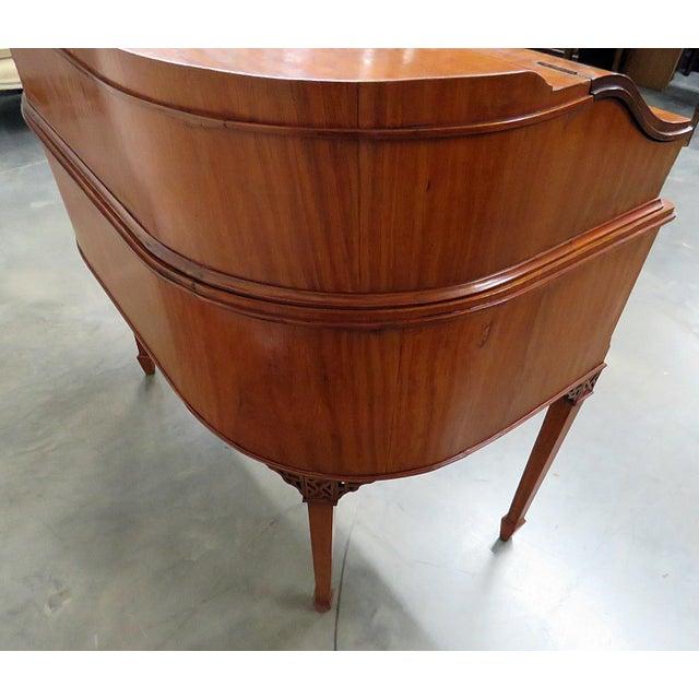 Edwardian Carlton House Satinwood Writing Desk For Sale - Image 11 of 12