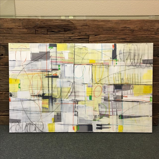 """Isabel Wyatt """"Taxi"""" Original Abstract Painting - Image 2 of 4"""