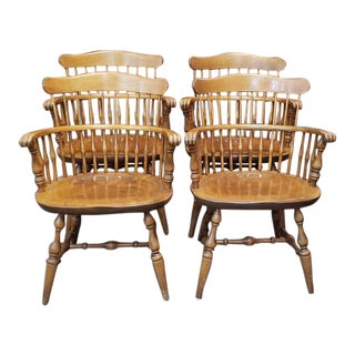 Set of Four Maple Windsor Dining Chairs by Nichols & Stone C.1960s For Sale
