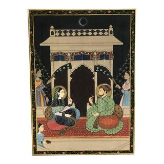 Vintage Hindu Figures on Silk
