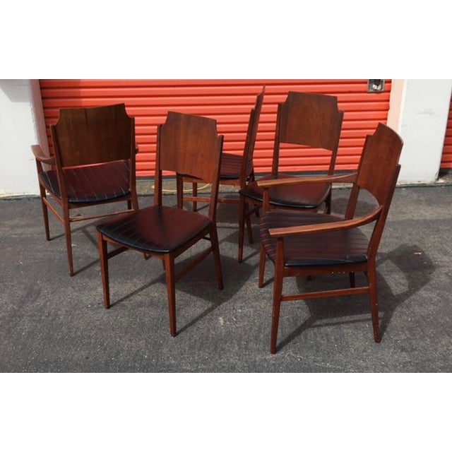 Textile Mid-Century Modern Paul McCobb Dining Chairs- Set of 5 For Sale - Image 7 of 7