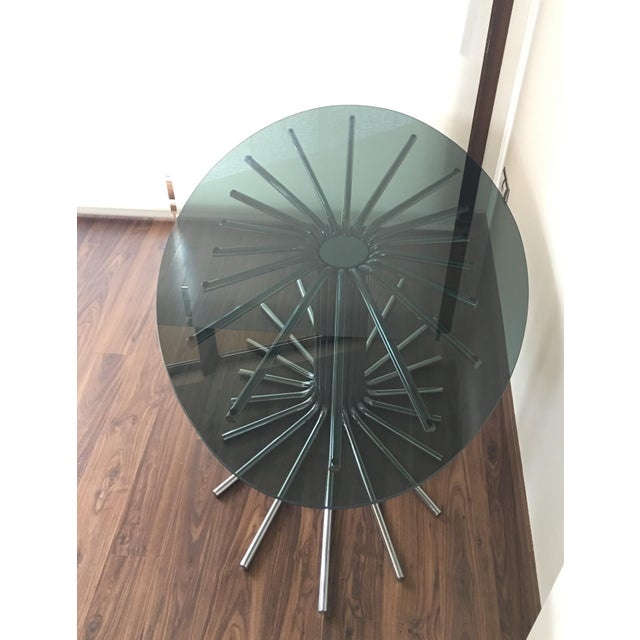 Hollywood Regency Mid-Century Chrome Starburst Dining Table For Sale - Image 3 of 12