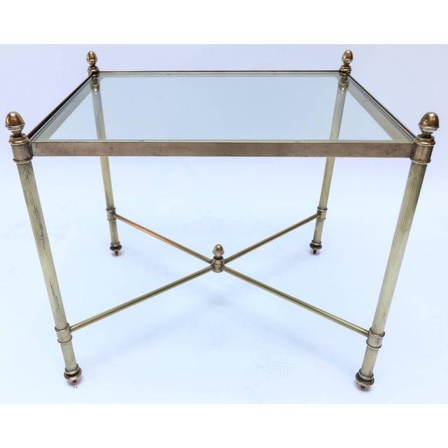 Gold 1960s Italian Brass Nesting Tables-Set of 3 For Sale - Image 8 of 10