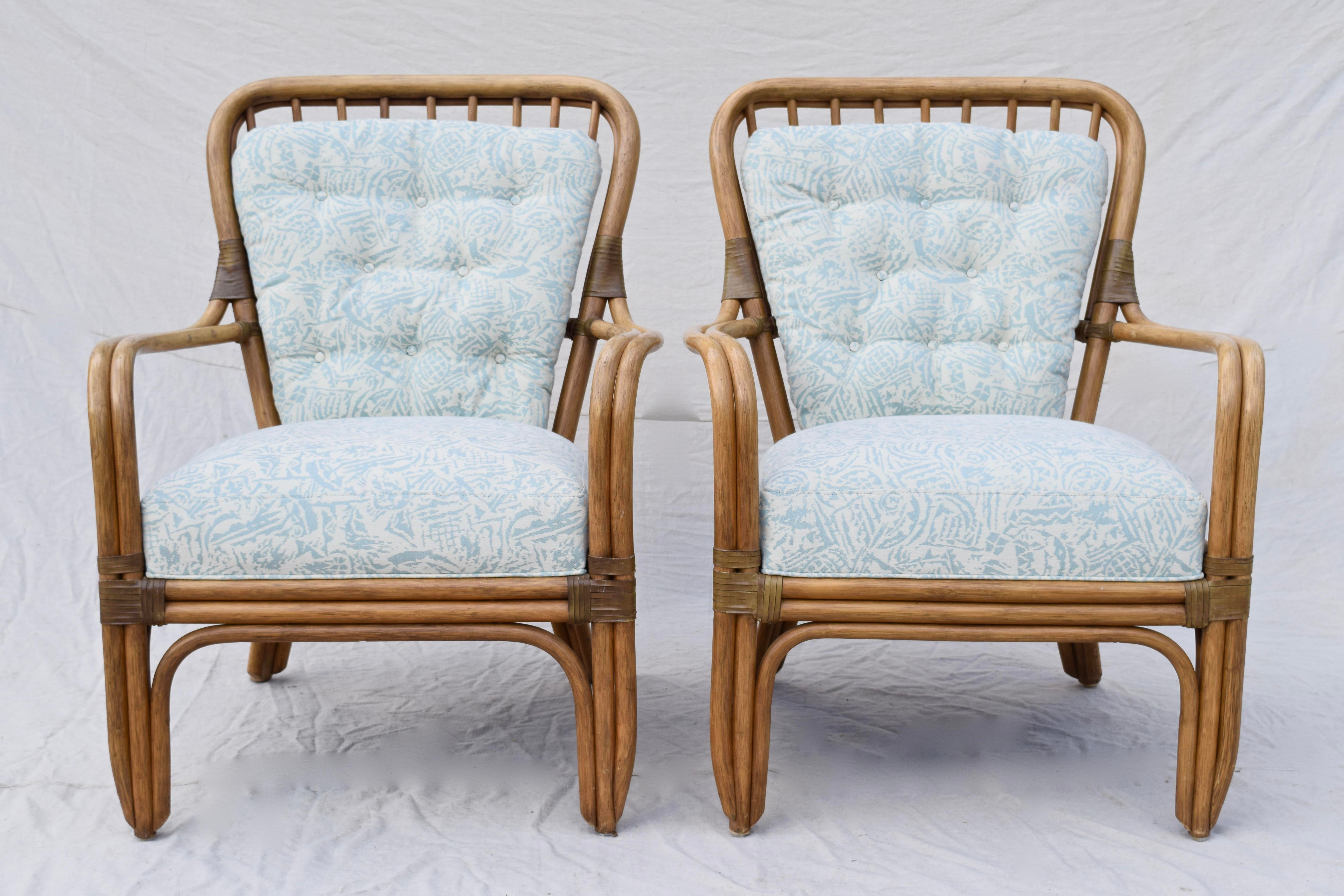 Contemporary Palecek Large Pole Bent Bamboo Chairs   A Pair For Sale    Image 3 Of