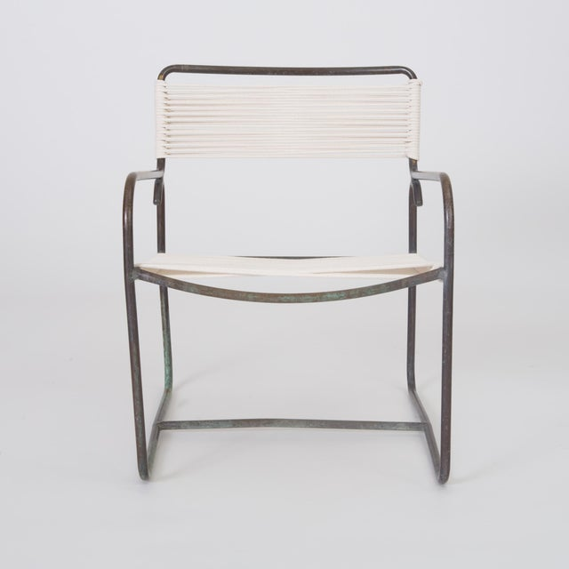 Single Walter Lamb Patio Lounge Chair and Ottoman Set For Sale In Los Angeles - Image 6 of 13