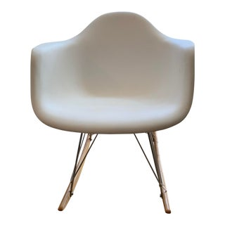 Eames Style Molded Plastic Rocker For Sale