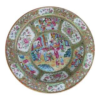 Chinese Rose Mandarin Medallion Bowl, 19th Century For Sale