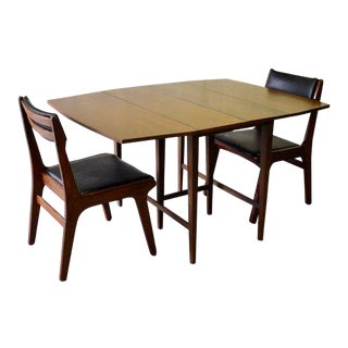 Mid Century Modern Paul McCobb Drop Leaf Dining Table Extendable For Sale