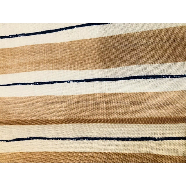 Modern Rebecca Atwood Painterly Stripe Fabric For Sale - Image 3 of 7