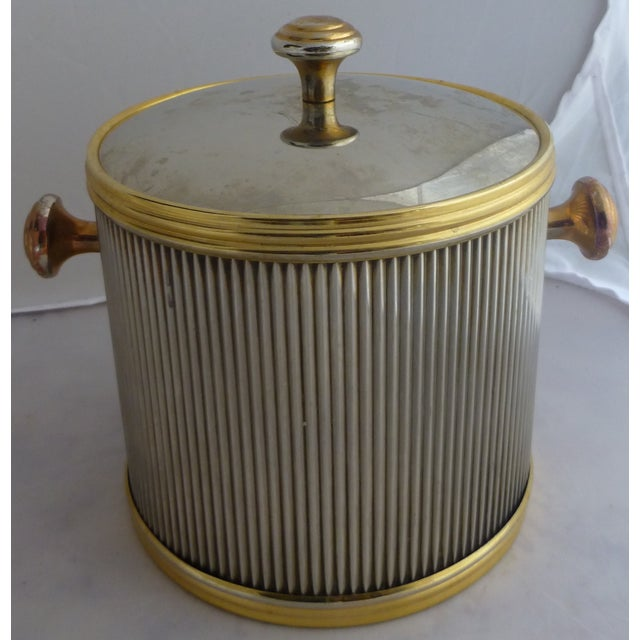 Vintage Brass & Chrome Ice Bucket - Image 2 of 7