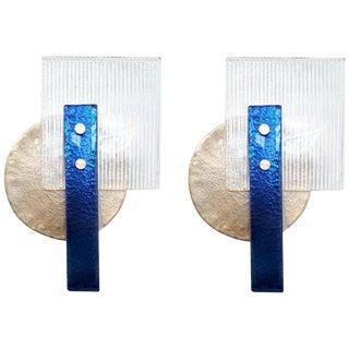 Pair of Geometric Sconces by Fabio Ltd For Sale