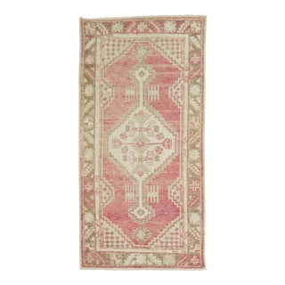 Vintage Pink Oushak, 2'8'' X 5'4'' For Sale