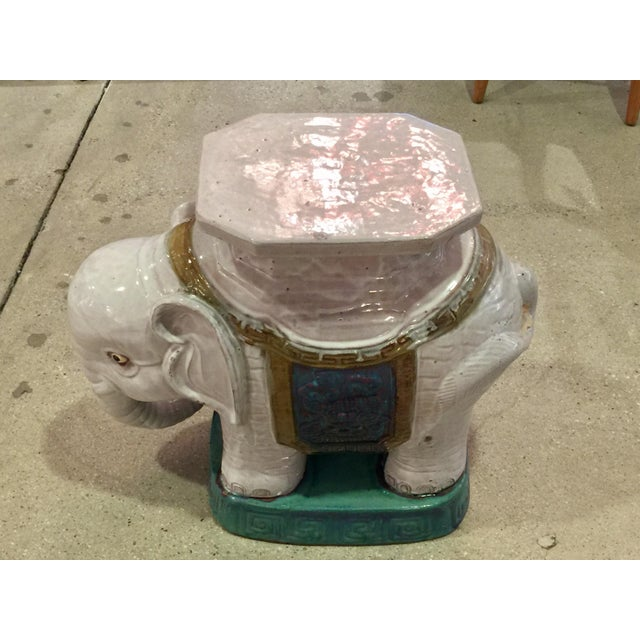 Ceramic Elephant Garden Stools - A Pair - Image 10 of 10