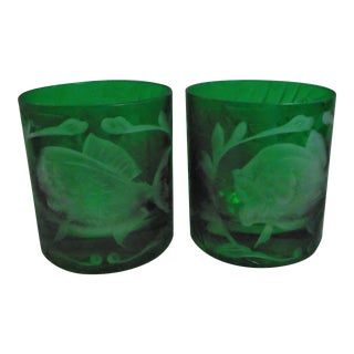 "Artel ""Jungle Baroque"" Double Old Fashion Glasses - Set of 2 For Sale"