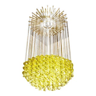 Exceptional Venetian Blow, Glass Pendant Light Fixture For Sale
