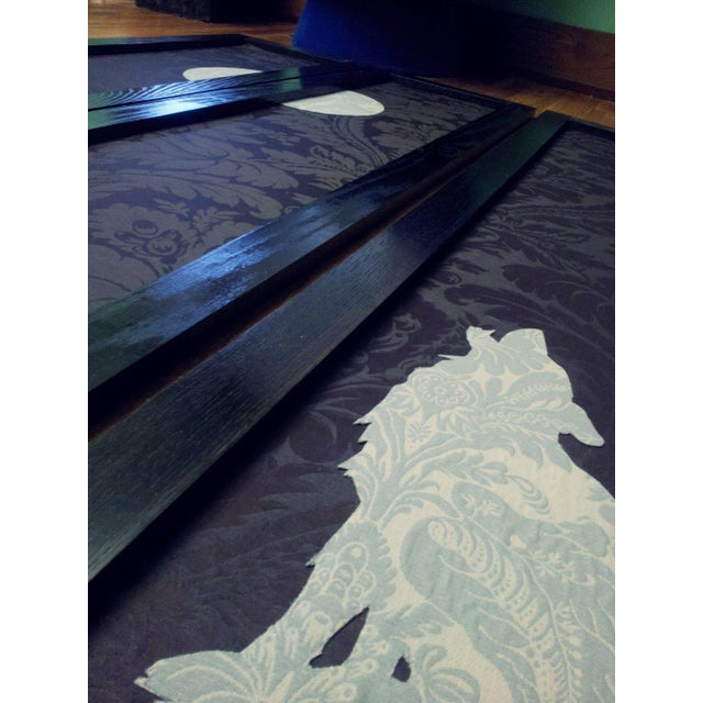 Boho Chic 'Wolf Angst' Deep Purple Room Divider For Sale - Image 3 of 8