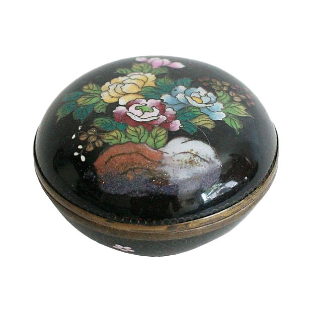 Round Cloisonné Trinket Box - Image 1 of 5