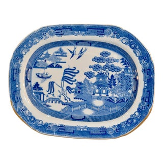 19th C. English Transfer Platter For Sale