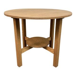 Mission Tiger Oak Bistro Table For Sale