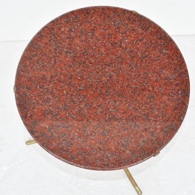 Red Cedric Hartman Pair of Granite Side Tables For Sale - Image 8 of 11