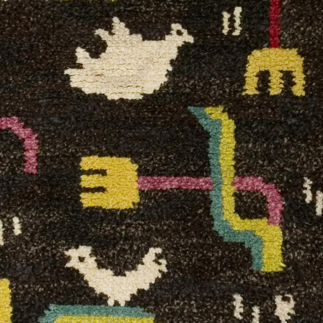 FJ Hakimian Vintage Swedish Pile Rug by Sigvard Bernadotte- 4′6″ × 6′10″ For Sale - Image 4 of 6