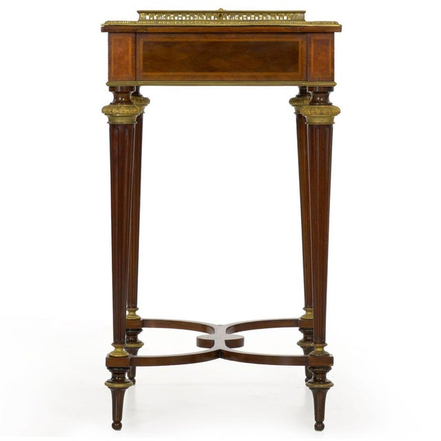 Antique French Marquetry Wine Serving Accent Table by Paul Sormani & Fils For Sale - Image 6 of 13