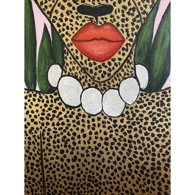 2010s Cheetah in the Jungle Mural For Sale - Image 5 of 7