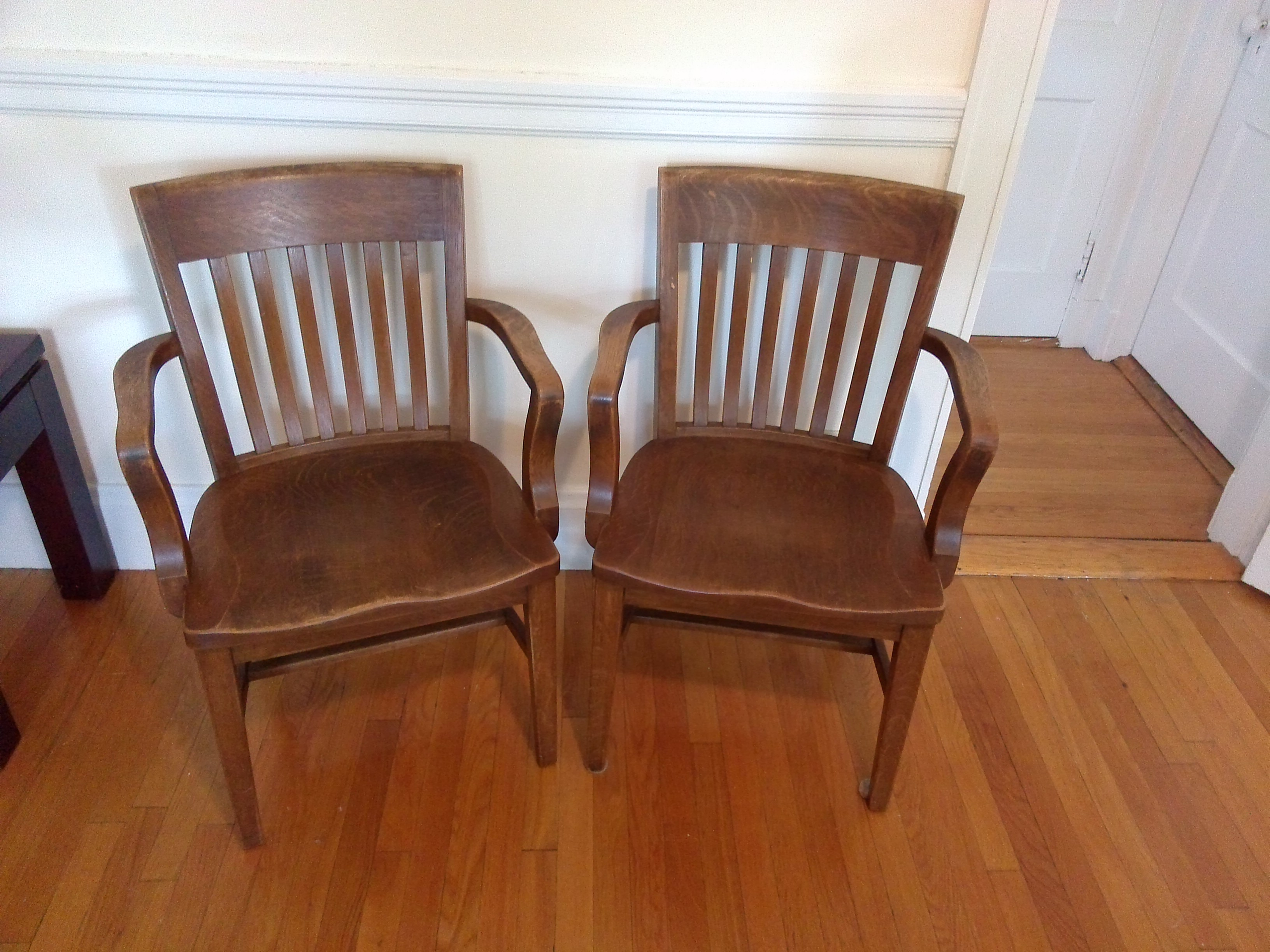 Mid Century Modern Vintage Library Chairs   A Pair For Sale   Image 3 Of