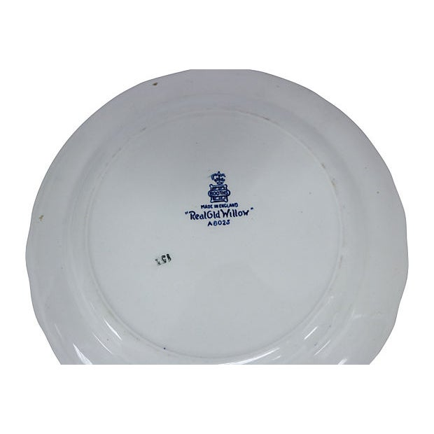 Cottage English Willow Salad Plates - Set of 12 For Sale - Image 3 of 4