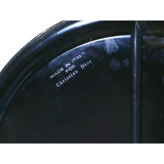 Signed Christian Dior Folding Side Table, 1970s For Sale - Image 10 of 11