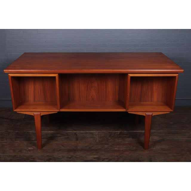 Danish Mid Century Modern Teak Desk For Sale - Image 6 of 13