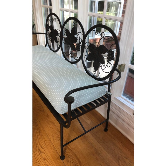 1990s 1990s Maitland-Smith Style Heavy Iron Bench For Sale - Image 5 of 9