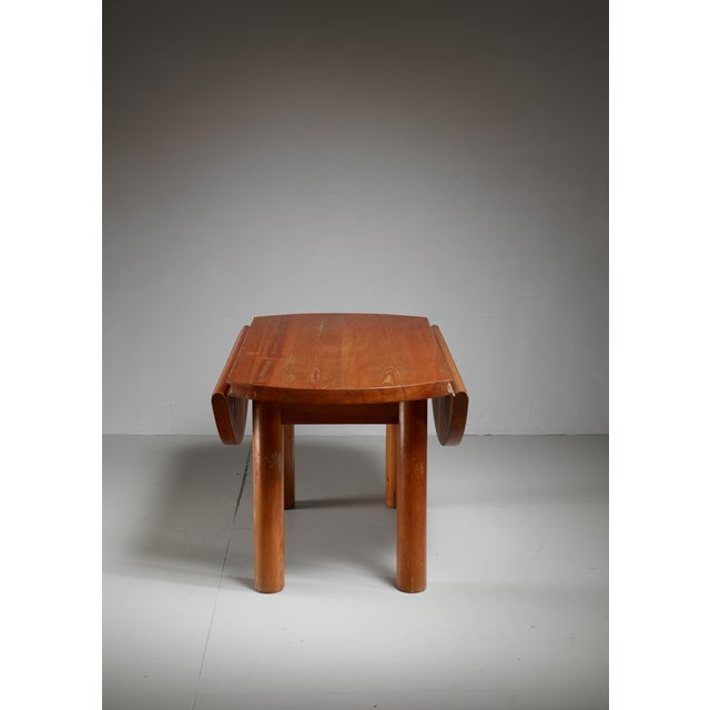 1940s Charlotte Perriand Drop-Leaf Dining Table from the Doron Hotel, France For Sale - Image 5 of 6