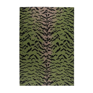 """Calabria Cashmere Blanket, Green, 51"""" x 71"""" For Sale"""