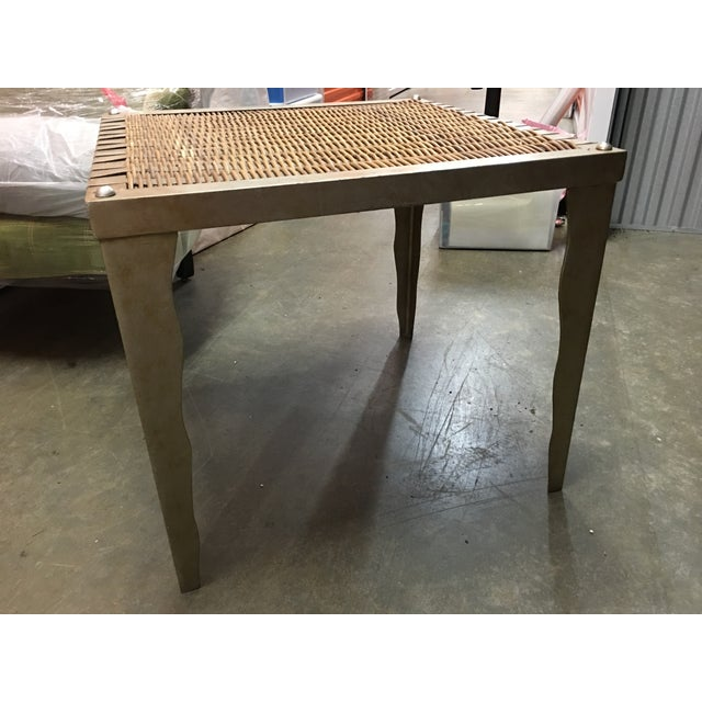 Wicker and Metal Side Table - Image 5 of 7