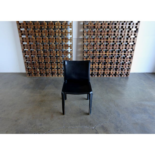 """Black Leather """"Cab"""" Chair by Mario Bellini for Cassina For Sale In Los Angeles - Image 6 of 11"""