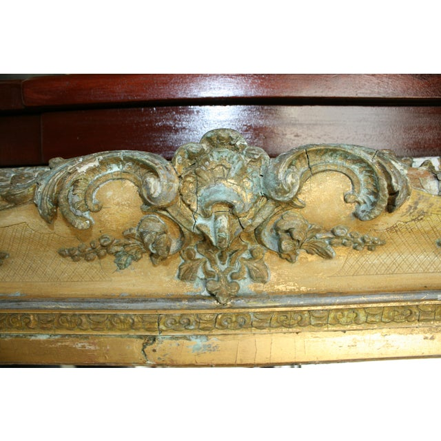1800s Antique Gold Mirror For Sale - Image 4 of 6