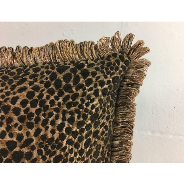 Hollywood Regency Italian Chenille Faux Leopard Pillows- a Pair For Sale - Image 3 of 6