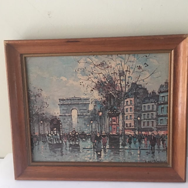 French Vintage Antoine Blanchard Parisian Scene For Sale - Image 3 of 9