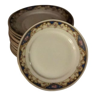 Antique 1920s Porcelain Bread Dishes - Set of 12 For Sale