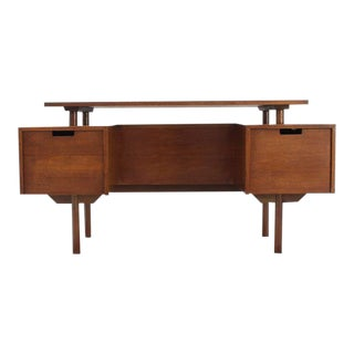 Vintage Mid Century Glenn of California Suspended Top Desk For Sale