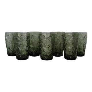 Mid-Century American Glass Tumblers, Set of 7 For Sale