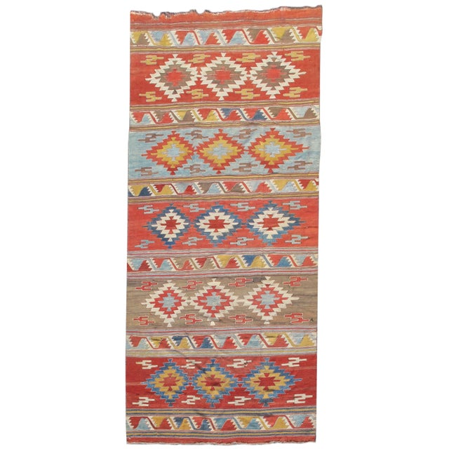 Islamic Konya Kilim Rug - 5′2″ × 12′2″ For Sale - Image 3 of 3