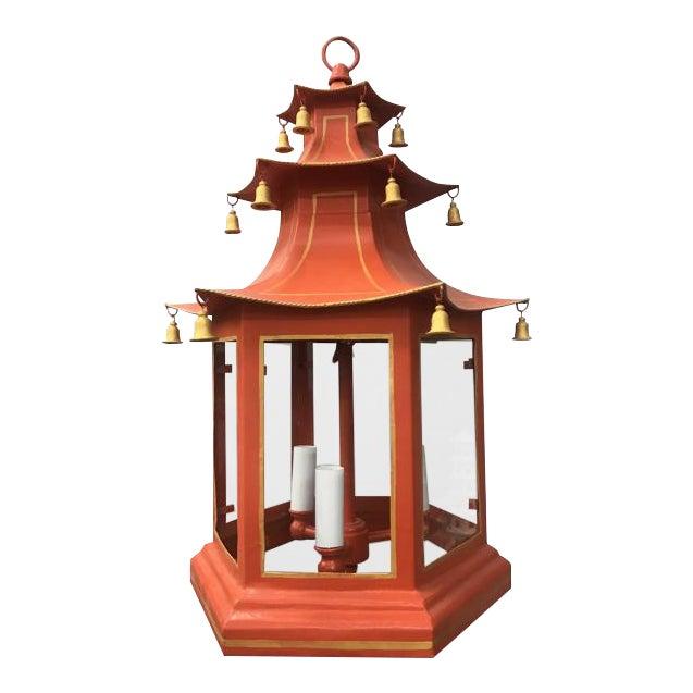 Three-Tier Pagoda Top Tole Lantern - Image 1 of 5