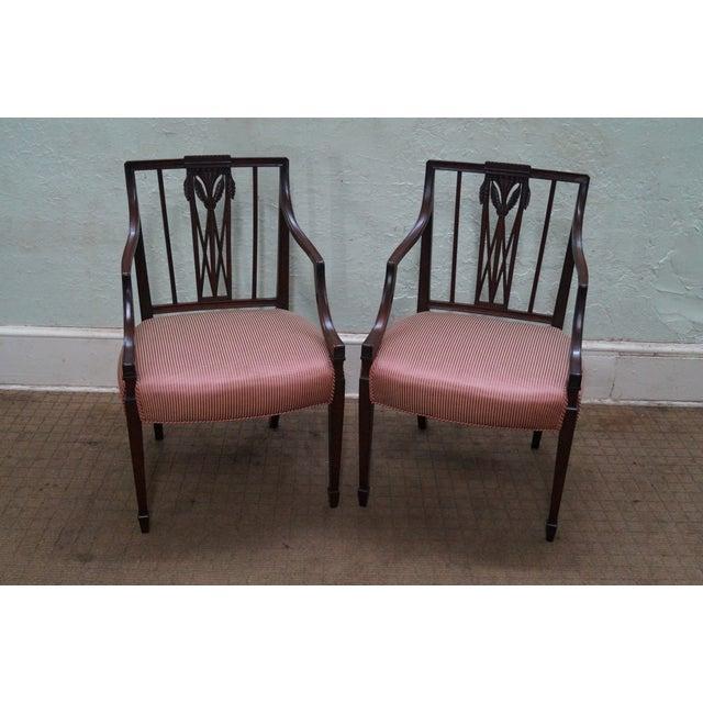 1940s Mahogany Hepplewhite Dining Chairs -Set of 6 - Image 5 of 10